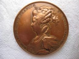 Médaille En Bronze, Louis XVI Et Marie-Antoinette D'Autriche, Par DUVIVIER - France
