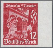 ** Deutsches Reich - 3. Reich: 1935, Feldherrnhalle 12 (Pf) UNGEZÄHNT Vom Bogenrand, Postfrisch Mit übl - Germany