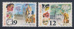 Belgie Belgique Belgium 1986 Mi 2252 /3 YT 2200 /1 ** Giants, Belfry In Alost + Clown In Binche - Carnival / Karneval - België