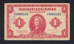 NIEDERLANDE - NETHERLANDS - 1 Gulden 1943 - [2] 1815-… : Kingdom Of The Netherlands