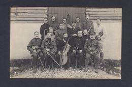 Foto-AK GÜSTROW Kriegsgefangenenlager - Belgisches Lagerorchester Ca. 1915 - Güstrow