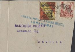Frontal/Fragmento Con Censura Y Benéfico - GRANADA - 1931-Today: 2nd Rep - ... Juan Carlos I