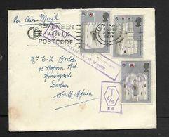"Great Britain,EIIR,EDINBURGH 5 JLY 69 1s3d > S.Africa, Violet Boxed  ""T6/9 R.G."" + ""B35"" + ""SURCHARGED..ADVISE SENDER - 1952-.... (Elizabeth II)"