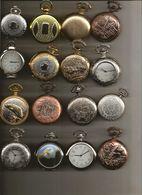 """ENSEMBLE DE 25 MONTRES A GOUSSET NEUVES  """"REPRODUCTION D'ANCIENNES"""" / FONCTIONNEMENT A PILE / VENDU SANS LES PILES - Watches: Bracket"""
