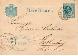 Bk  G16 Van Amsterdam Naar Gothenburg Met Frimalogo - Postal Stationery