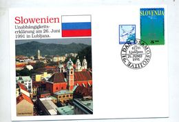 Lettre Cachet Lubljana  Independance - Slovénie