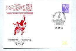 Lettre Cachet Belfast Illustré Coupe Monde Football Match Ecosse Nouvelle Zelande - Coupe Du Monde