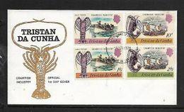 Traistan Da Cunha, EIIR, 1970, Crawfish Industry, First Day Cover - Tristan Da Cunha