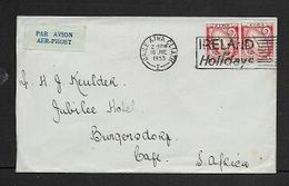 Ireland, 1s4d Air Mail BAILE ATHA CLIATH 16 JNE 1953 + IRELAND FOR HOLIDAYS Slogan I> S.A.frica - 1949-... Republic Of Ireland