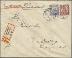 """Br Deutsche Kolonien - Kamerun - Stempel: """"FONTENDORF KAMERUN 6.4.05"""", Klar Auf R-Brief Mit 10 Pfg. Und - Colony: Cameroun"""
