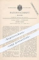 Original Patent - Gustav Lentz , Düsseldorf , 1889 , Lokomobiler Langkessel   Dampfkessel , Kessel , Lokomotive !!! - Historische Dokumente