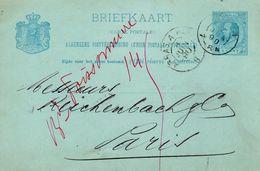 Bk G25  Van Arnhem Naar Parijs Via ARRAS A PARIS - Postal Stationery