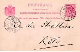 Bk G57a  Van Rotterdam Naar Köln - Postal Stationery