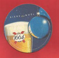 Sous-Bock : Kronenbourg 1664 Joli Bière De Noël - Sous-bocks