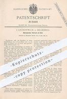Original Patent - J. Grünenwald , Bromberg , 1884 , Mechan. Schrank Mit Bett   Schränke , Betten , Möbel , Möbelbauer - Historische Dokumente