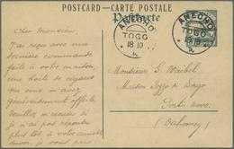 """GA Deutsche Kolonien - Togo - Französische Besetzung: 1914, """"Occupation Franco-anglais 5 Centimes"""" Aufd - Colony: Togo"""