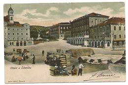 OLD POST CARD OF OBALA U  ŠIBENIKU ( SEBENICO )   . - Croatia