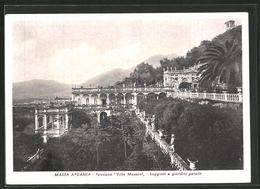 Cartolina Massa Apuania, Pensione Villa Massoni, Loggiati E Giardini Pensili - Massa