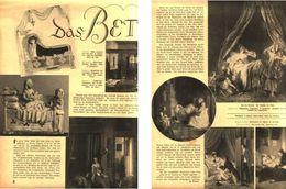 Das Bett / Druck,entnommen Aus Zeitschrift / 1937 - Bücher, Zeitschriften, Comics