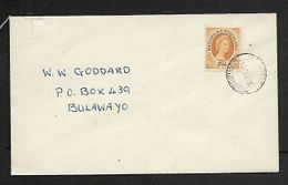 .Rhodsia & Nyasaland  2 1/2d FDC , Plain, Private HILLSIDE S.RHODESIA 15 SEP 56 C.d.s. - Rhodesia & Nyasaland (1954-1963)