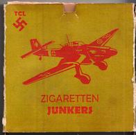 CIGARETTE BOX , GERMANY ,AIRPLANE , JUNKERS - Boites à Tabac Vides