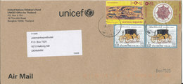 Thailand Cover UNICEF Sent To Denmark With Topic Stamps - Thailand