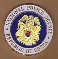 AC - NATIONAL POLICE AGENCY REPUBLIC OF KOREA MEDAL - MEDALLION IN BOX - Professionals / Firms