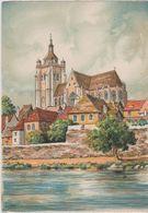 Carte Postale       BARRE  DAYEZ       DOLE   La Collegiale  Et Le Doubs    Illustrateur  BARDAY   2287  A - Dole