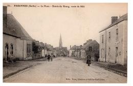 DD2526  FRANCE  PARENNES SARTHE LA POSTE ENTREE DU BOURG ROUTE DE SILLE   POSTCARD - France