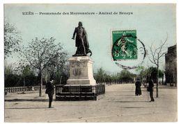 CPA  UZES Promenade Des Marronniers Amiral De Brueys 11219 - Uzès