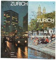 Suisse 1966 Dépliant Touristique Zurich - Plan - Schweiz - Dépliants Touristiques
