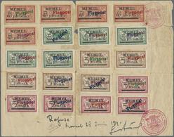 Memel: 1921 Vorlageblatt Mit 20 Marken Der Merson Ausgabe Mit 19 Verschiedenen (jeweils Einmaligen) - Klaipeda