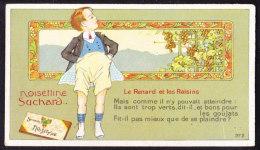 CHROMO Chocolat SUCHARD  Fables  De La Fontaine  Renard Et  Raisins  Serie 235 - Suchard