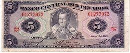 Ecuador P.108 5 Sucres 1975 Vf - Ecuador