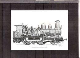 Feuillet N/B - Train - Dessin Et Gravure De Guillaume Broux - Bpost 2017 - Blocks & Kleinbögen Schwarz