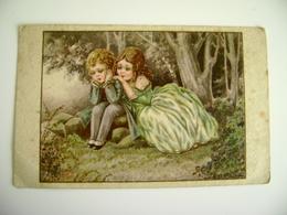 DA SASSARI  1929 A Bertiglia Romantic COUPLE COPPIA      ILLUSTRATEUR SIGNEE    POSTCARD  CIRCULE  USED  FORMATO PICCOLO - Bertiglia, A.