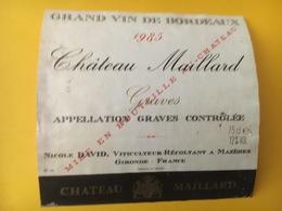 6843 -  Château Maillard 1985 Graves - Bordeaux