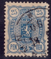 Finland, 1889-92, Arms, 25p, Sc#42, Used - 1856-1917 Russian Government