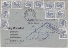 Beckum, 1948, Mi 947x20+ Taxe Manuscrite (18033/046) - Zona Anglo-Américan