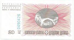 Bosnia And Herzegovina 20 Dinara  1994. UNC P-42 - Bosnië En Herzegovina