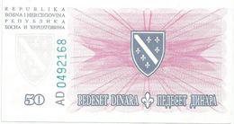 Bosnia And Herzegovina 50 Dinara  1994. UNC P-43 - Bosnia And Herzegovina