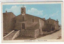 83.. POURRIERES  -  PLACE DE L' EGLISE   BE  TT93 - Autres Communes