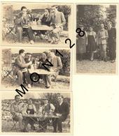 PARIS LA PORTE JAUNE BOIS DE VINCENNES-CHEZ BOUDI MAI 1930 - 4 PHOTOS DE FAMILLE 11x6,5 Cms - Lieux