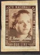 PRO VITTIME POLITICHE N.PARENTI FRATELLI MASSA MARITTIMA  22/6/44  L. 2 - Stamps
