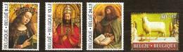 Belgie Belgique  1986 Yvertn° 2206-2209 *** MNH  Cote 14,80 Euro L' Agneau Mystique Lam Gods - Belgique