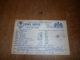 BC10-2-0 Carte Radio Amateur Islington Kings Lynn Norfolk - Non Classés
