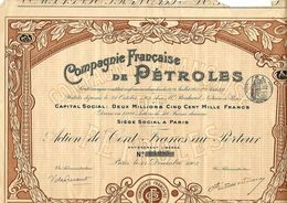 1903 VOIR HISTORIQUE TOTAL CIE FRANCAISE DE PETROLES 1903 PARIS VOIR SCANS+HISTORIQUE - Pétrole