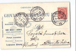 3438 02 NOLA AMBROSINIO X ALZAVILLA AIRPINA - TIMBRO AMBULANTE NAPOLI AVELLINO BENEVENTO - 1900-44 Victor Emmanuel III.