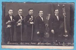 W413)  5 FRERES MUSICIENS NASCIMBENI Photo Trumgler , (INFIMES DEFAUTS VISIBLENT SCAN TRES TRES BONNE TENUE ) - Artistas