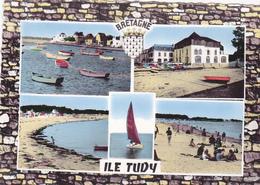 Cp -29-ile Tudy-Pas Sur Delc.-port Plage (multivues)- Edi Du Moulin - Ile Tudy